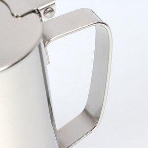 Image 3 - Tasse dart de Latte dacier inoxydable de 600ml avec lensemble de café de tasse de mousse de lait de couvercle