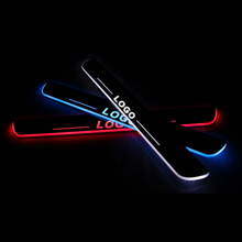 LED Door Sill For Jaguar F-PACE X761 2015 Door Scuff Plate Entry Guard Threshold Welcome Light Car Accessories