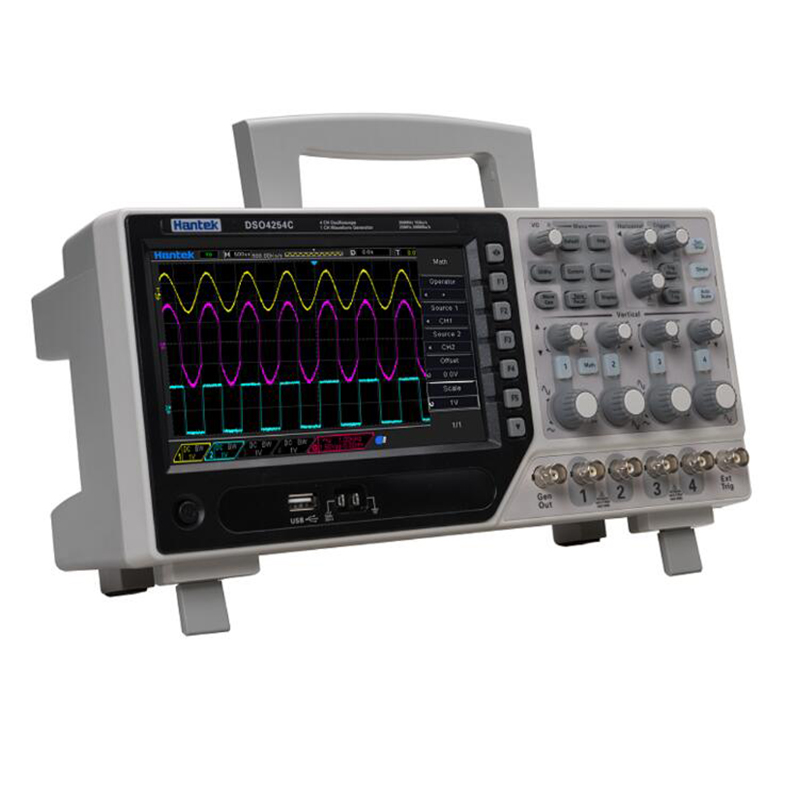 2019 Hantek DSO4084C DSO4104C DSO4204C DSO4254C 4 channel Digital Oscilloscope With 1CH Arbitary function Waveform Generator image