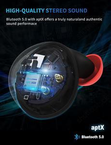 Image 5 - TWS Bluetooth 5.0 aptx Auto Pairing Touch Control CVC 6.0 Noise Cancel Auricolari Vero Wireless Stereo con Auricolari Custodia di Ricarica