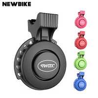 TWOOC Elektrische Fahrrad Glocke USB Ladung Bike Radfahren 120db Lenker Ring Glocke 3 Modus Sounds Sicherheit Wasserdichte Bike