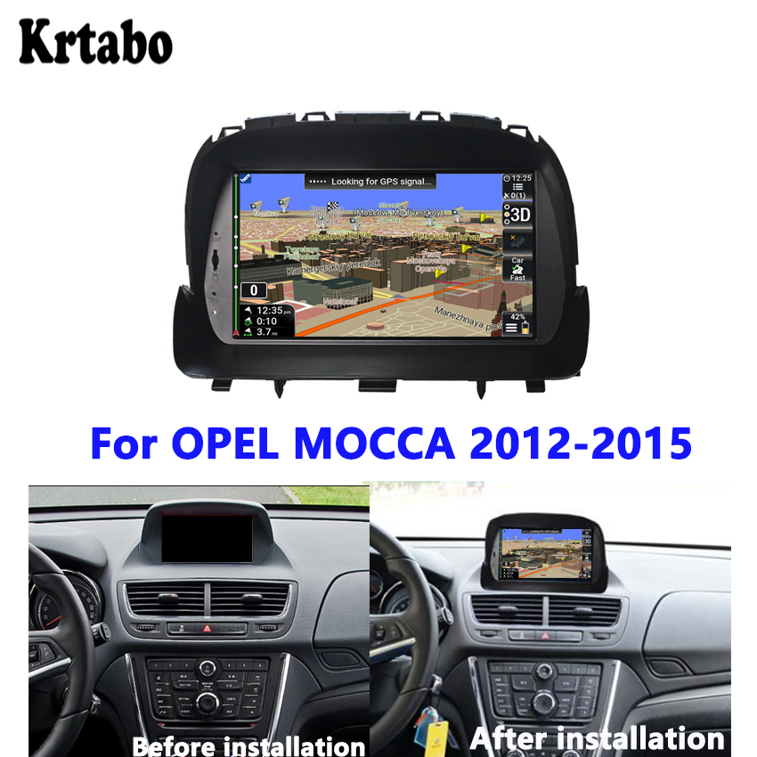Car Radio GPS For OPEL MOkkA 2012 2013 2014 2015 Navigation Reversing Image Car Multimedia Player Touch Screen Support DVD