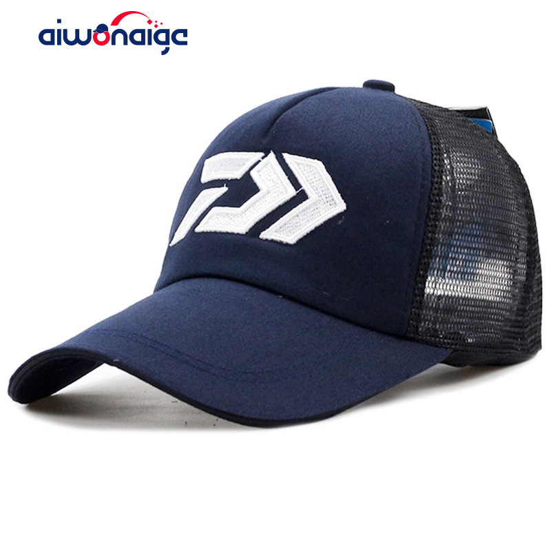 2019 New DAIWA Summer Sun Hat Breathable Mesh Sunshade Breathable Adjustable Sun Hat Big And Male Outdoor Fishing Brand Cap