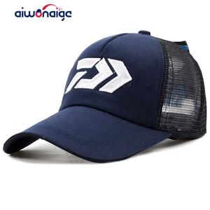 2019 new DAIWA summer sun hat breathable mesh sunshade breathable adjustable sun hat big and male outdoor fishing brand cap(China)