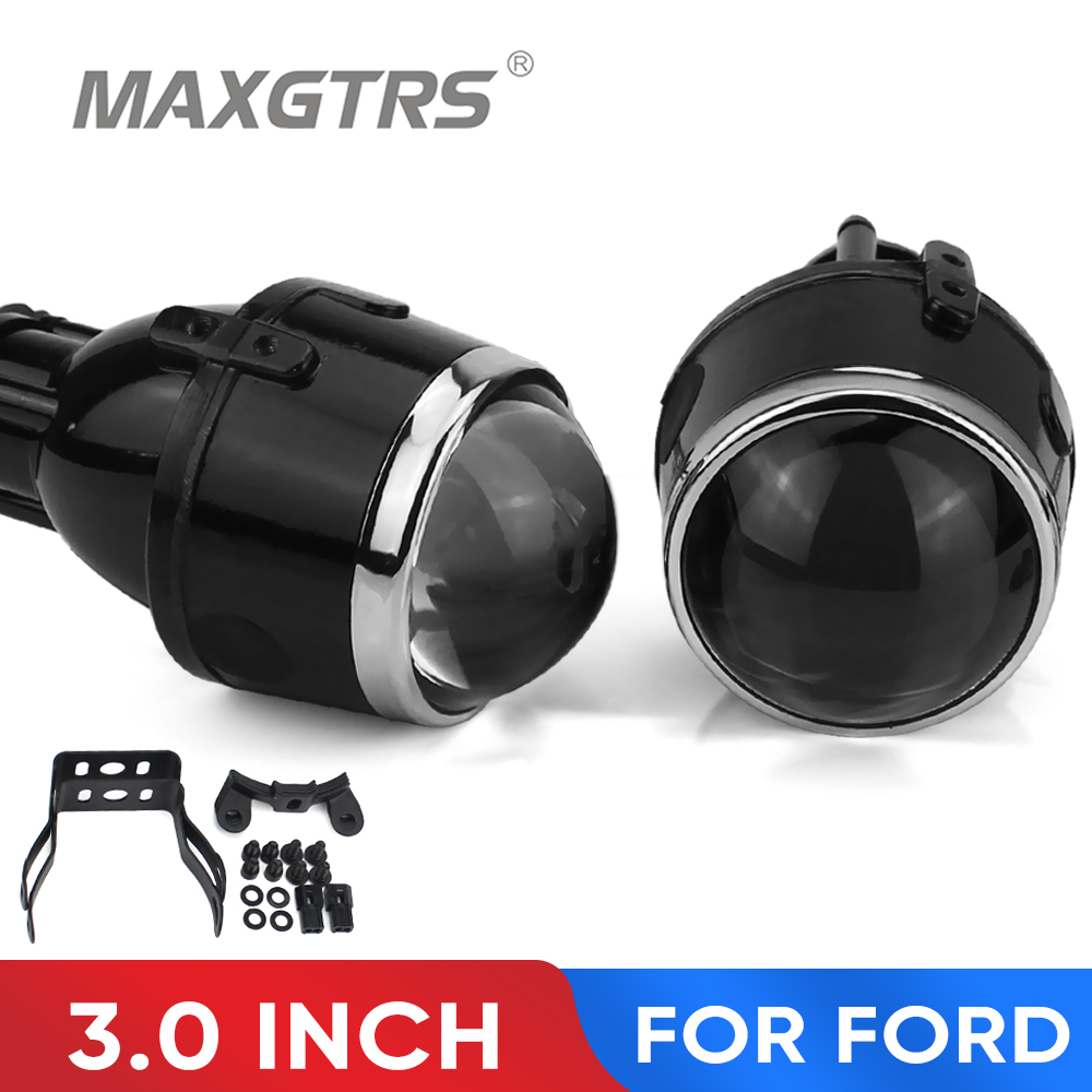 2x 3.0 inch Bi-xenon HID Fog <font><b>Lights</b></font> High Low Beam Projector Lens Lamps For <font><b>Ford</b></font> Ecosport Fiesta <font><b>Focus</b></font> Freestyle Fusion C-max image
