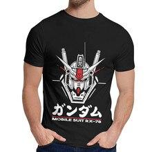 Hip Hop Super Robot Mobile Suit Gundam RX-78 T Shirt Casual Man Soft T Shirt