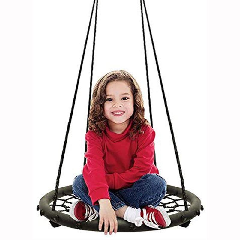 Swing Kids Indoor Outdoor Round Web Swing For Kids Children Adult Tree Swing Set Baby Toys Bearing 200 Kg Diameter 60cm