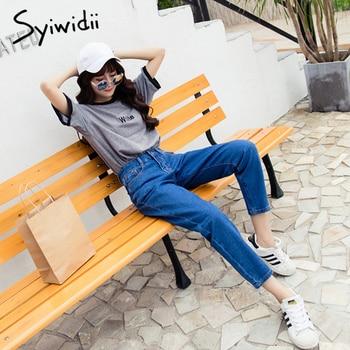 Cotton high waist jeans blue plus size boyfriend jeans for women Harem Pants 5xl street style korean fashion 2020 new 4