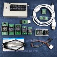 Black ZIF socket V10.80 XGecu TL866II Plus Programmer 16000+IC SPI Flash NAND EEPROM MCU PIC AVR+ 10PCS ADAPTER+PLCC EXTRACTOR