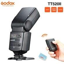 Godox TT520 II فلاش TT520II مع البناء في 433MHz إشارة لاسلكية + فلاش الزناد لكانون نيكون بنتاكس أوليمبوس كاميرات DSLR
