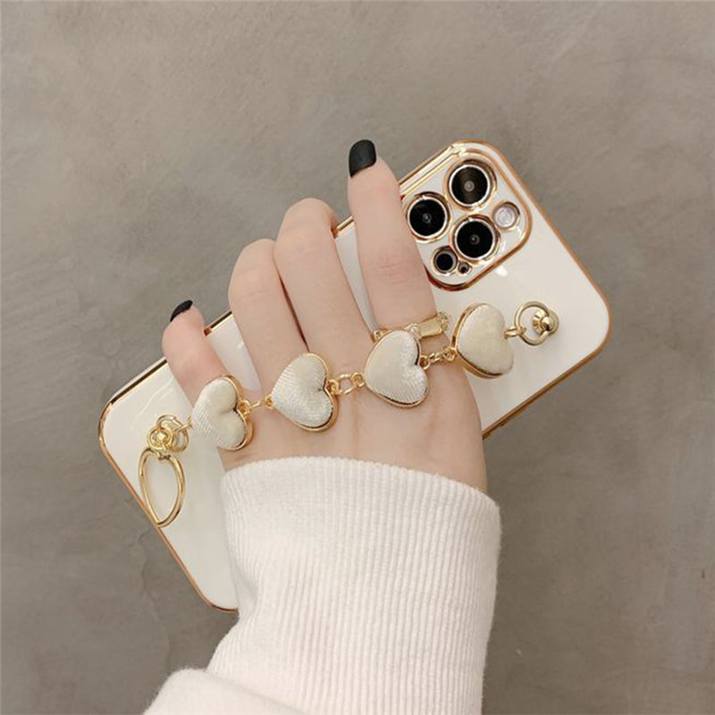 iPhone Back & Case & Love Heart Fabric - 1mrk.com