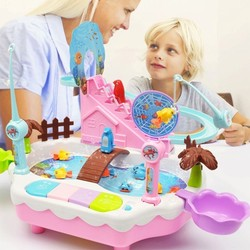 2019 New Brand Electric magnetic fishing toy 1-6 years old penguin climb stairs music light play interactive educational toys