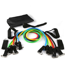 Resistance Bands Latex  11 IN 1 Sports Fitness Yoga Pilates Trainning Tube Pull Rope