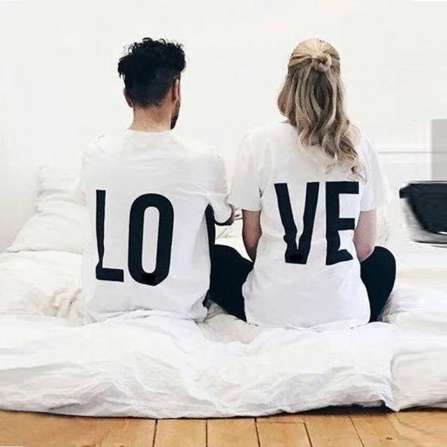 Print T Shirt LO-VE Gifts T Shirts cb5feb1b7314637725a2e7: men red|men white|women red|women white