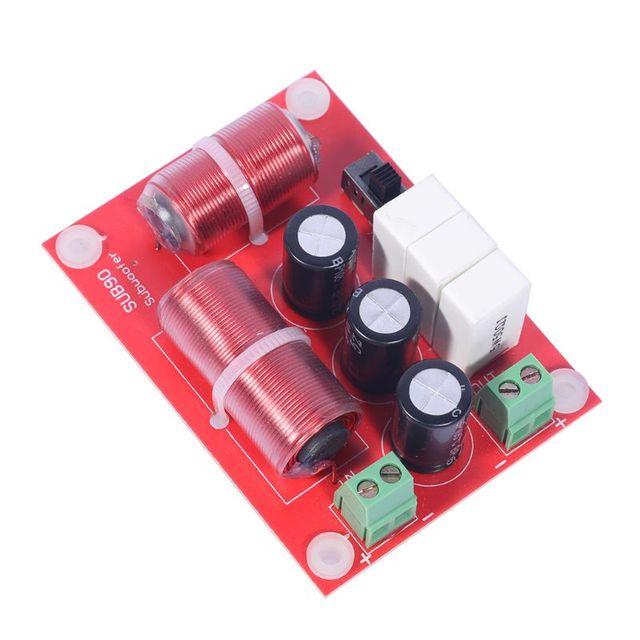 120W Single Bass Woofer Subwoofer Hi-Fi Speaker Passive Frequency Divider SUB90 Crossover Filters Adjustable Point 800Hz/1000Hz