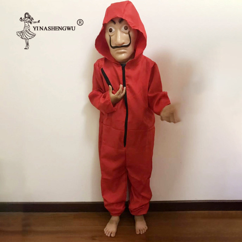 La Casa de Papel Filme de Salvador Dali Máscara Traje Cosplay Do Partido Do Traje do Dia Das Bruxas Máscara Dinheiro Assalto A Casa de papel