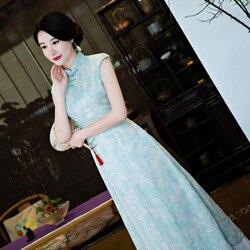 Sommer mädchen qipao Ethnische Vietnam sleeveless Ao dai kleid für frauen