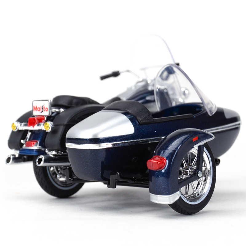 Maisto 1:18 2001 Flhrc Peta King Sepeda Motor Klasik Scooter Diecast Alloy Motor Model Mainan