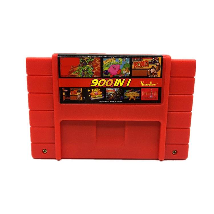 Cartucho de vídeo game diy 900 em 1, super china remix, cartão de jogo para 16 bits, jogos,