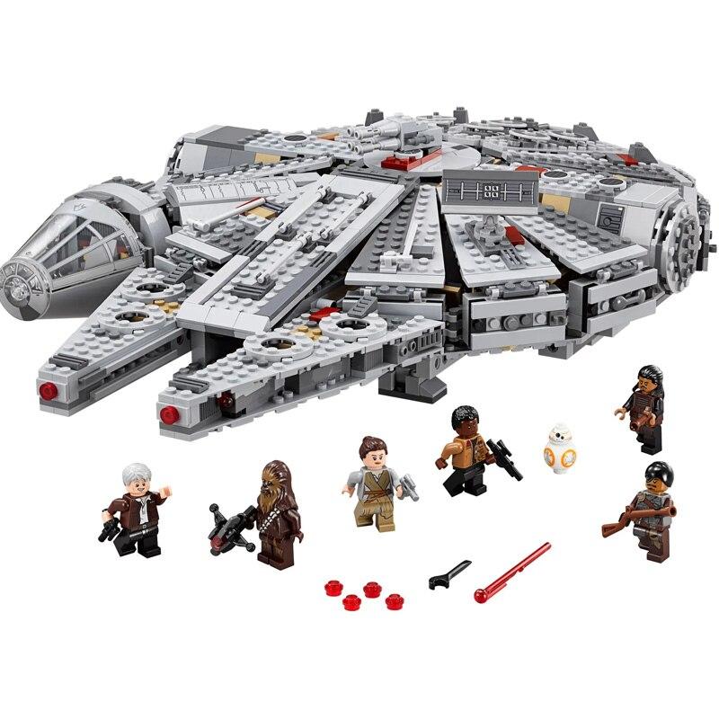 In Stock Star Movie Wars The Millennium Force Awakens 1381pcs Education Model Building Kits Blocks Bricks toy Christmas Gifts