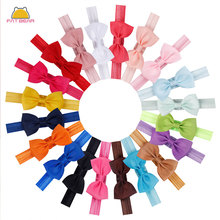 2Pcs Colorful  Small Hair Bow Tie Headbands DIY Grosgrain Ribbon Bow Elastic Hair Bands For Girl Children Hair Accessories girl hair bow knot ribbon scrunchy elegant hair accessories for women for hair elastic bands new arrival headwear hairband