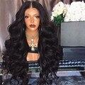 Длинные черные парики для косплея, волнистые Длинные Синтетические парики для белых/черных женщин, бразильские американские волнистые вью...