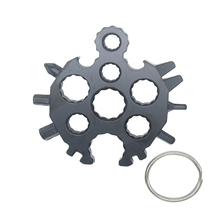 20 in 1 Snowflake Stainless Steel Multitool Wrench Screwdriver Keychain Bycycle Spoke Spanner Card EDC Tactical Set Tool