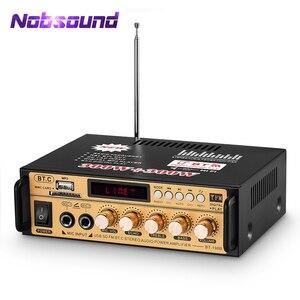 Nobsound Bluetooth цифровой усилитель стерео аудио приемник для дома/автомобиля/морской усилитель мощности без потерь USB музыкальный плеер MIC SD карт...