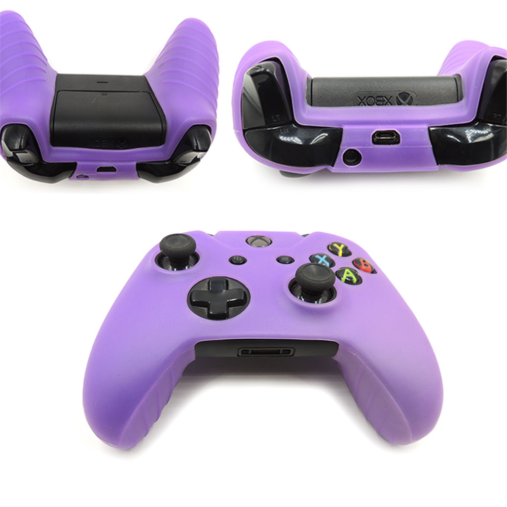 Controller Silicone Skin Case + Analog Thumb Stick Grip Cap For XBox For One 1 X S Slim Joystick