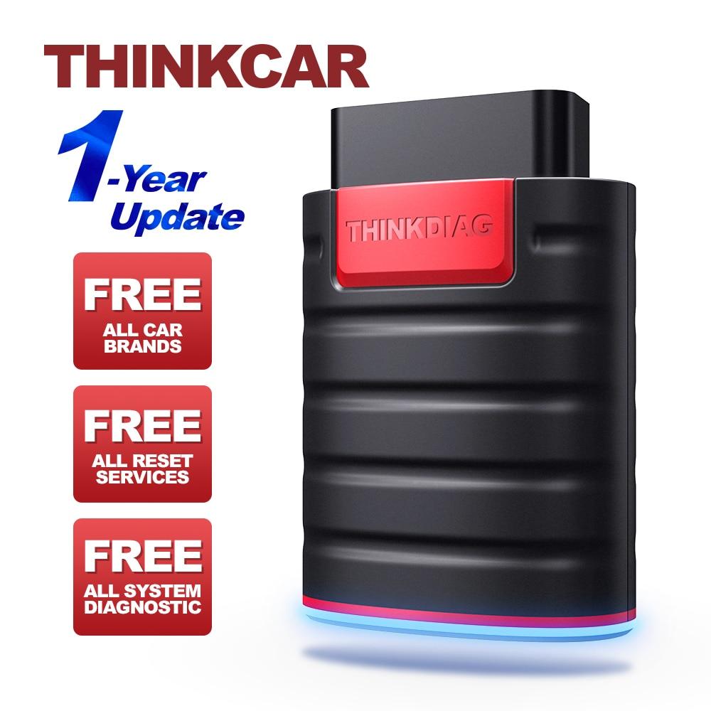 THINKCAR Thinkdiag OBD2 считыватель кодов, полное программное обеспечение, 1 год обновления, полная система, obd2, диагностический инструмент Easydiag, ECU про...