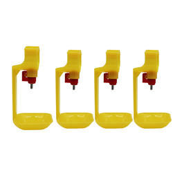 4pcs Poultry Waterer Drinking Cups For Chicken Automatic Drinker Nipple For 25mm Pipes Ball Nipple Poultry Feeding Waterer
