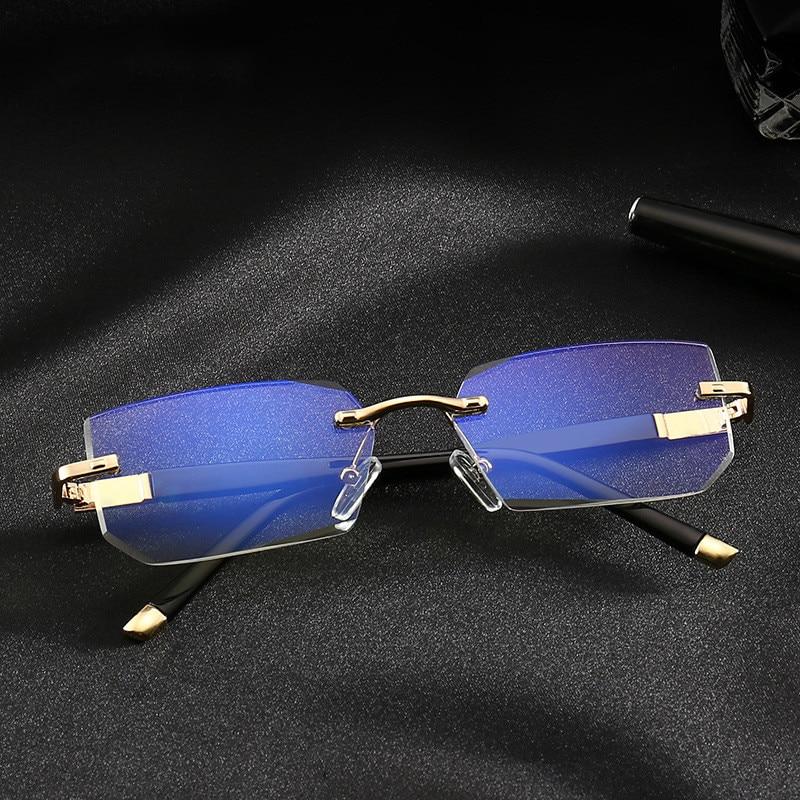 Anti Blue Ray Reading Glasses Men Rimless Eyewear Women Anti Fatigue Hyperopia Presbyopic Glasses Readers For Men +1.5 3.5  Z325