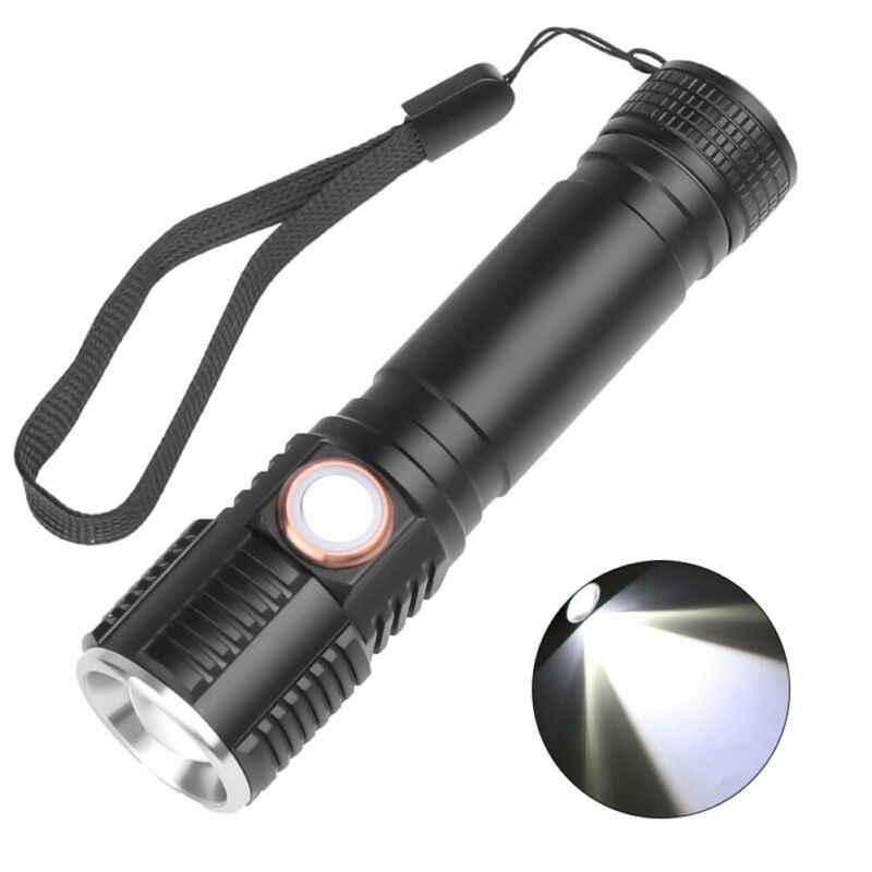 50000LM LED Searchlight Handheld Flashlight Portable Spotlight USB Rechargeable