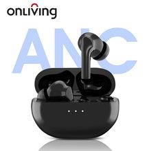 Onliving XY-50 bluetooth 5.0 sem fio fone de ouvido com cancelamento de ruído ativo tws fones anc à prova dwaterproof água com duplo micphone