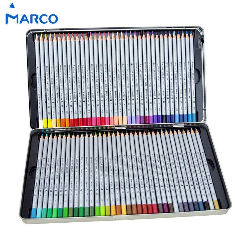 Marco rafline óleo de arte fina lápis colorido 24/36/48/72 cores lapis de cor desenho pintura esboços caixa lata material escolar