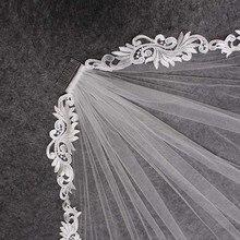 Elegant Short Lace Wedding Veil 1 Meter Ivory Bridal Veil with Comb Velo Novia Wedding Accessories