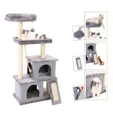 EU Domestic Delivey Pet Toy Cat Furniture Scratched Wooden Tree Jump Toys House Cheap Tower rascador gato