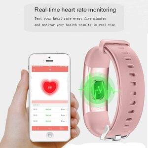 Image 2 - Wearpai SmartWatch hommes femmes M4 fréquence cardiaque Notification de la pression artérielle rappel dappel prendre Photo montre de Sport pour iOS et Android