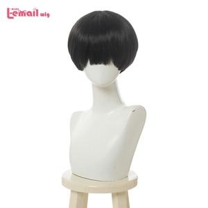 Image 1 - L email wig Toilet Bound Hanako kun Cosplay Wig Jibaku Shounen Hanako kun Cosplay Black Short Wig Heat Resistant Synthetic Hair