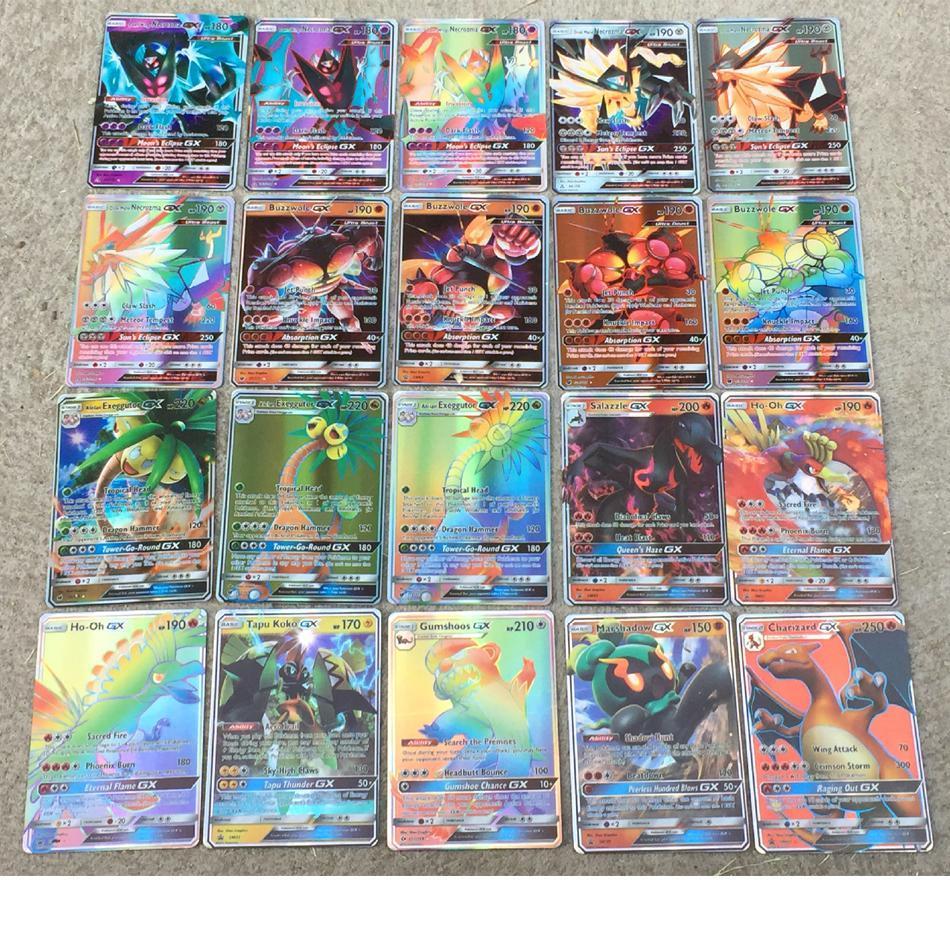 200 Pcs GX MEGA Shining Pokemon Cards Game Battle Carte Trading Cards Game Children Toy