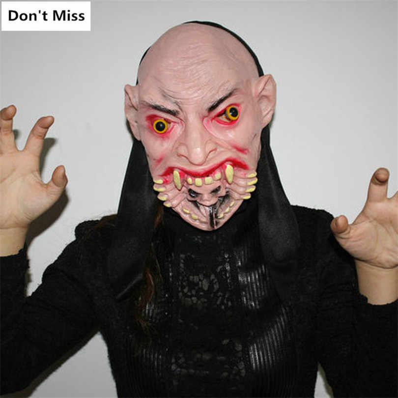 Suprimentos Halloween Horror Bloody Máscara Máscaras Do Partido Cosplay Halloween Decoração Acessórios Máscara Realista Assustador Assustador Adereços Brinquedo