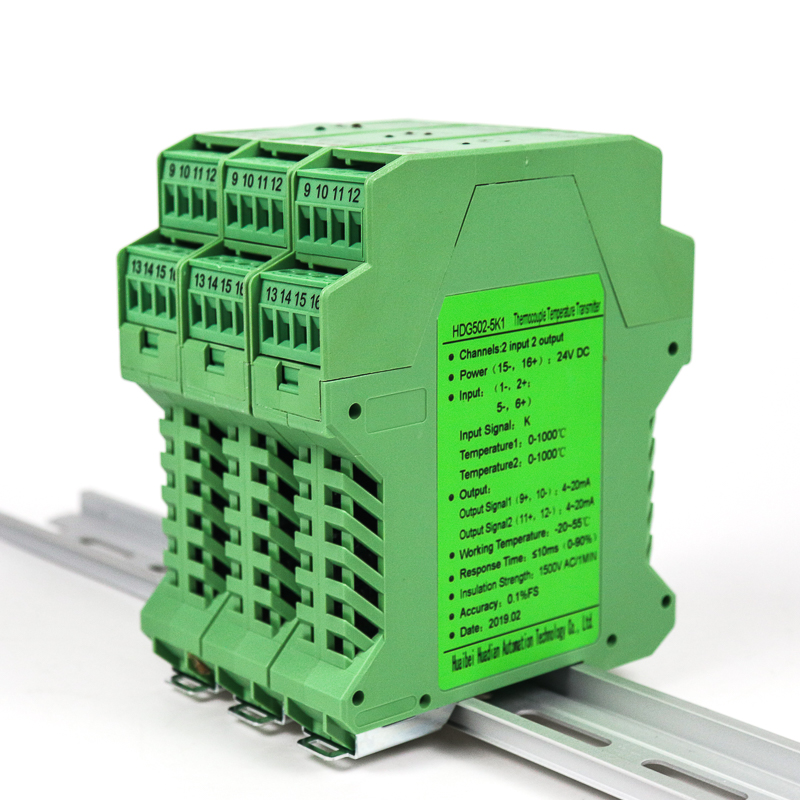 Convertisseur de température cu50 pt100 niveau de précision 0.05% isolateur de signal analogique de température