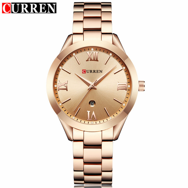 NEW CURREN Gold Watch Women Watches Ladies 9007 Steel Women's Bracelet Watches Female Clock Relogio Feminino Montre Femme