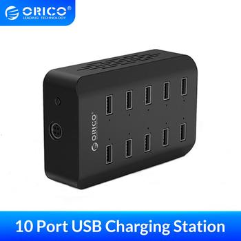 ORICO 10 Ports Desktop Charging Station for Mobile Phone 5V2.4A*10 Ports Charger Adapter for Phone Tablet
