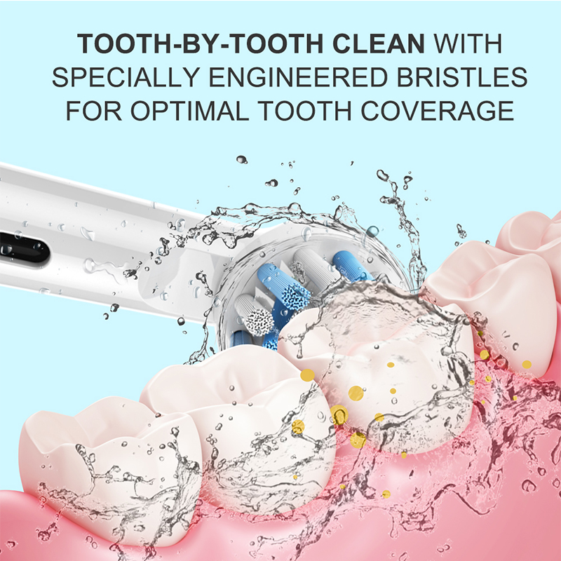 4 PCS New Design Replacement Toothbrush Heads Electric Toothbrush Soft Bristle,Vitality Dual White Clean Cross Action For Oral B image