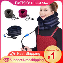 Neck Stretcher Air Cervical Traction 1 Tube House Medical Devices Orthopedic Pillow Collar Pain Relief Blue Brown Tractor