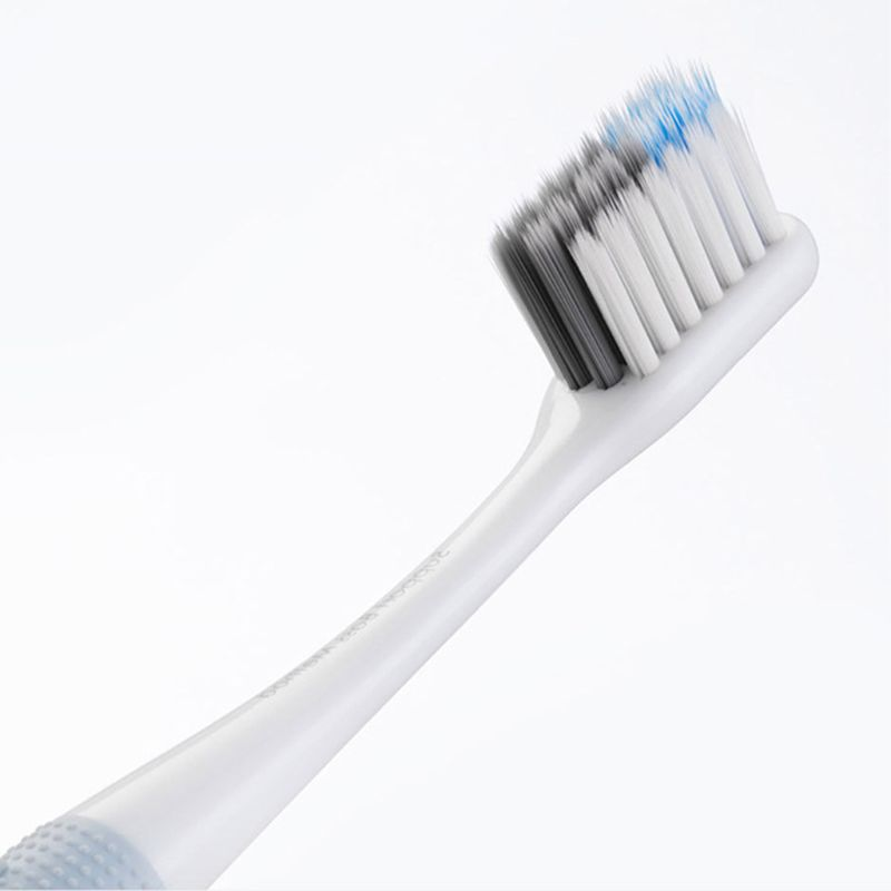 4pcs familia limpeza profunda escova de dente macia sanduiche frisado fio de cerdas de escovas de