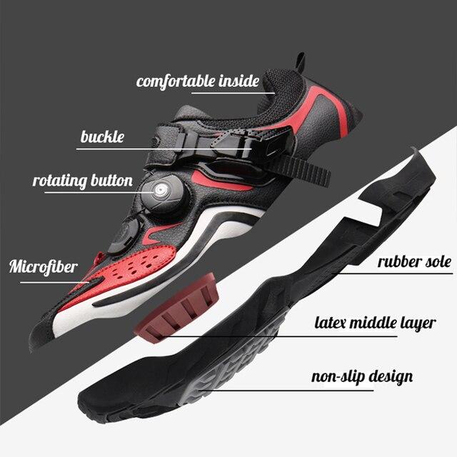 Sapatos masculinos para ciclismo de estrada, calçados para bicicleta de montanha, mtb, mountain bike, tênis de corrida triathlon 3