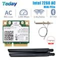 1200 Мбит/с Intel 7260 Mini PCIE Wifi сетевая карта Беспроводной двухдиапазонный 7260HMW Bluetooth 802,11 ac WiFi адаптер Антенна для рабочего стола
