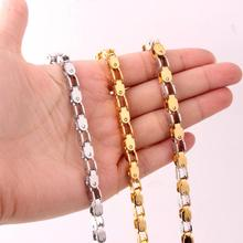 Top Quality 5mm Gold Chain Huge & Heavy Long Rope Bike Stainless Steel Mens Necklace Link Wholesale